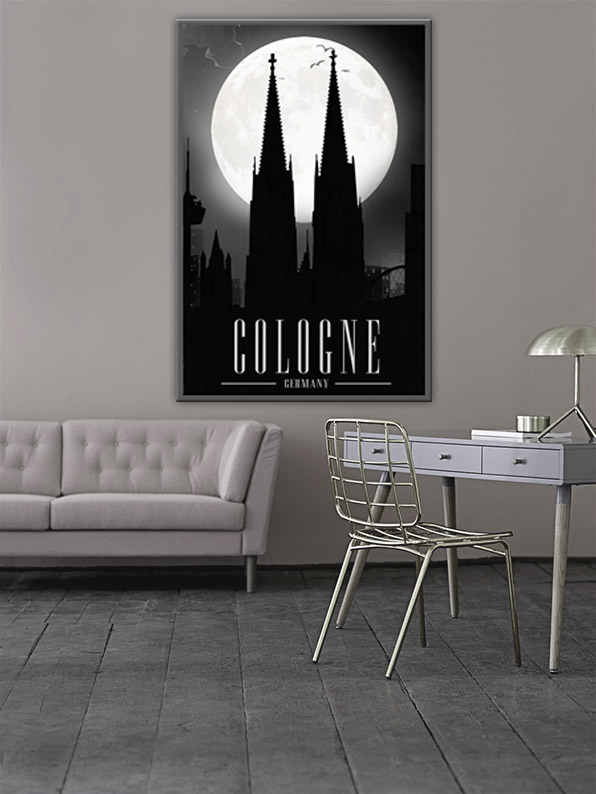 OC-001-Moon-River Cologne Wandbild
