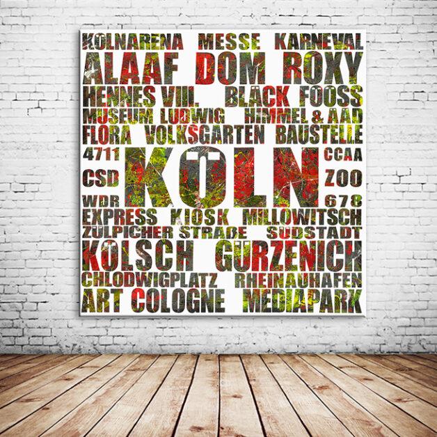Rheingold II Typografisches Wandbild individuell veränderbar