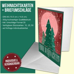 Moon River Weihnachtskarte (rot-grün)