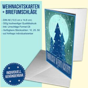 Moon River Weihnachtskarte (blau)