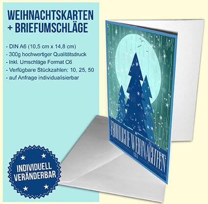Moon river als weihnachtskarte bei oh chapeau bestellen for Weihnachtskarten personalisiert