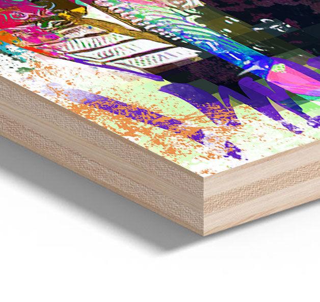 Jimi Hendrix Musik Holz Druck