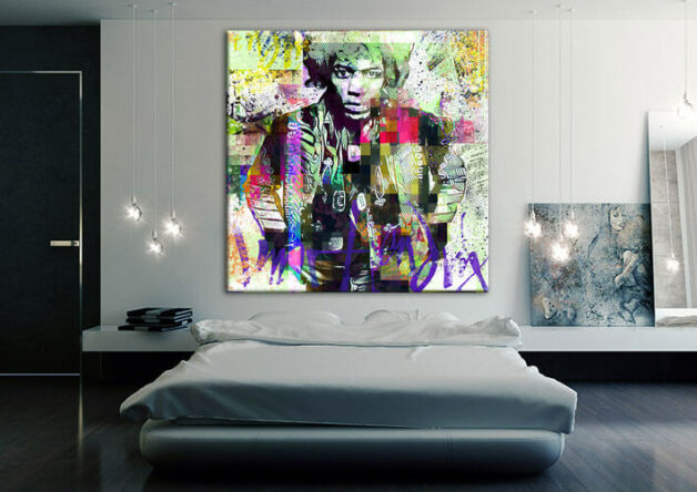 Jimi Hendrix Musik Leinwand Druck