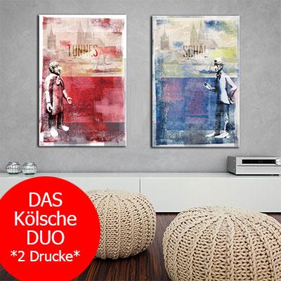 OC-253-2-Tuennes-un-Schael-Duo-Koelsche-Legenden-Alter-Markt-Wandbild-Angebot-2-Drucke