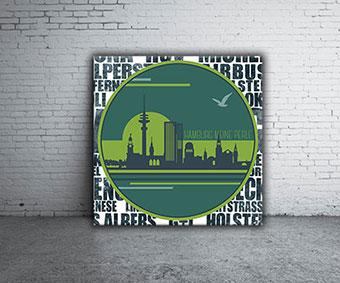 OC-235-Tunnelblick-Elbtunnel-Hamburg-typografische-Collage-Silhouette-HH