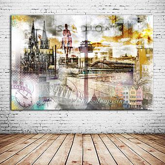 OC-239-Sehnsucht-no-Koelle-Wandbild-abstrakte-Collage-Colonius-schwarz-weiß