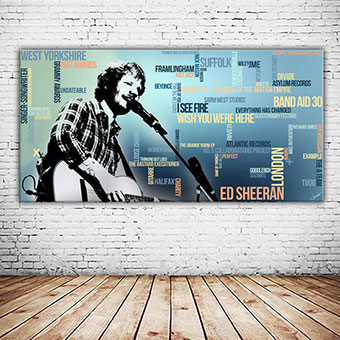 OC-242-Perfect-Ed-Sheeran-Wandbild-Kunstdruck-Musik-Grammygewinner-Typografisch-Wandansicht-neu