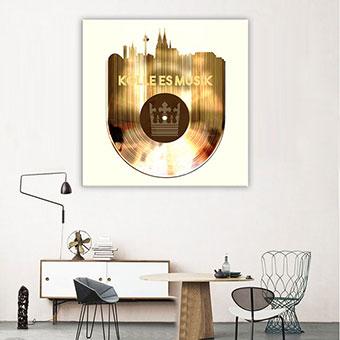 OC-243-Koelle-es-Musik-Schallplatte-Koeln-Silhouette-Skyline-Wandansicht-80x80-neu