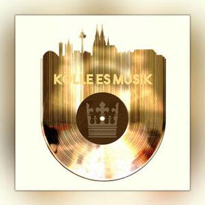 Koelle es Musik Schallplatte abstrakte Grafik
