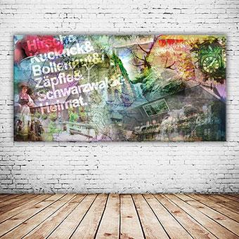 OC-244-Zum-Kuckuck-Schwarzwald-Collage-neu-Bollenhut-Wandbild-Fasnet-Webansicht-neu