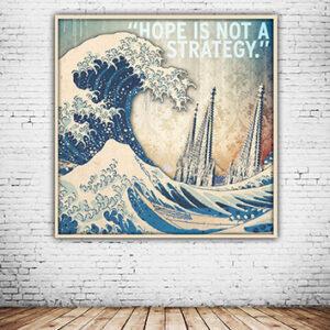 Die Welle vun Koelle abstrakter Leinwawand und Alu-Druck Mixed Art
