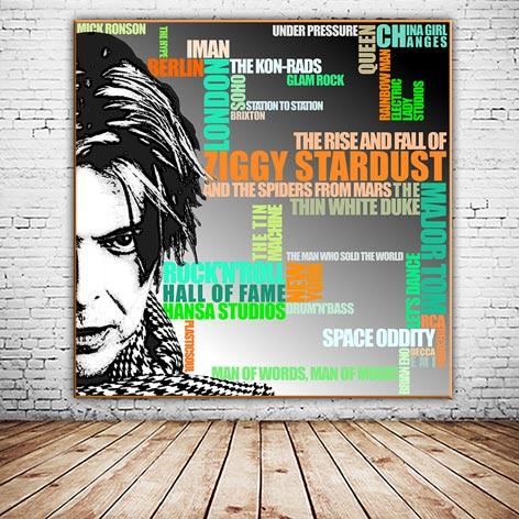 David Bowie Wandbild Ziggy Stardust Kunstdruck