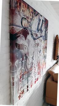 Koeln-Collage-Trust-Me-Wohnzimmerwand