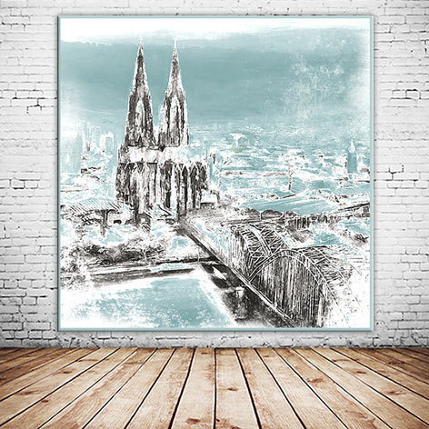 Individueller Leinwanddruck Cologne Köln