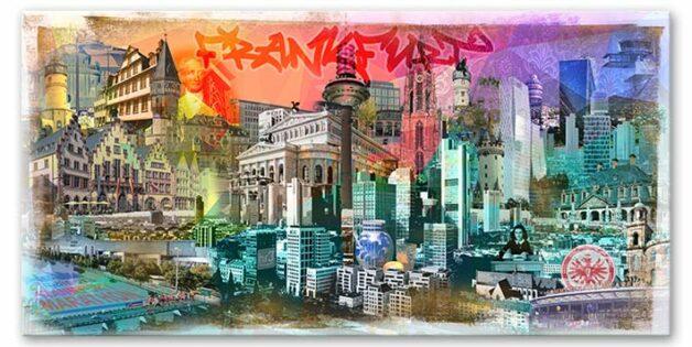 Frankfurt Skyline Wandbild