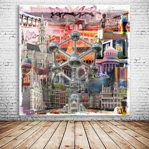 Brüssel-Collage individuell veränderbar