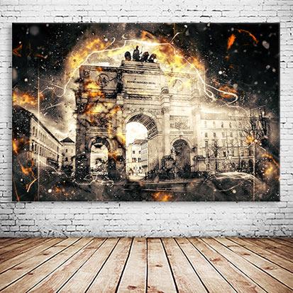 München Siegestor abstrakt Collage
