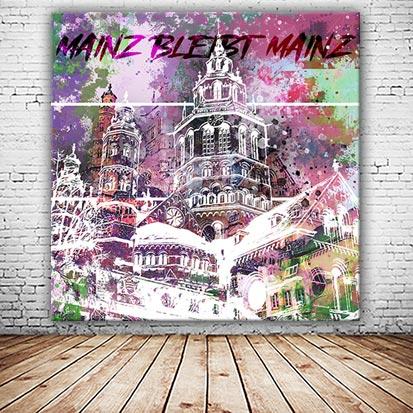 Mainzer Dom Collage abstrakt