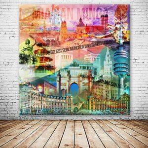 München Wandbild Collage individuell Hallo Harras