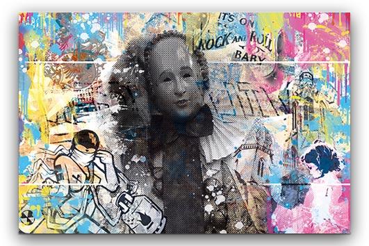 Villinger Stachi Graffiti abstrakt Wandbild