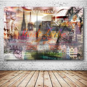 Kölner Stadtliebe Wandbild individuell