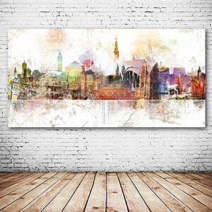 Abstrakte Freiburg-Collage versandkostenfrei