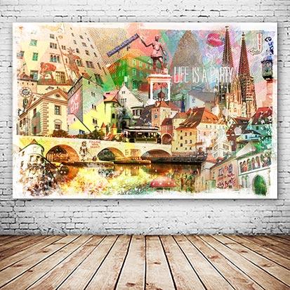 Regensburg WAndbild individuell versandkostenfrei