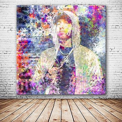 Eminem Wandbild abstrakt bunt