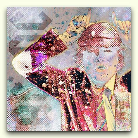 ACDC Angus Young Kunstdruck