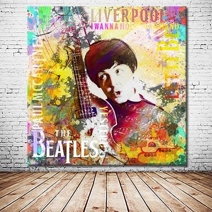 Paul McCartney Beatles Wandbild versandkostenfrei