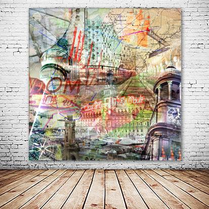 Das Herz von St. Pauli Hamburg Collage versandkostenfrei