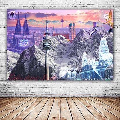 Köln München Mixbild Collage