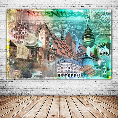 Nürnberg Frankenland Collage neu und versandkostenfrei